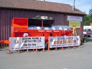 Alberni Paving Contracting Ashphalt Recycling Machine